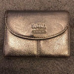 Coach metallic card holder case